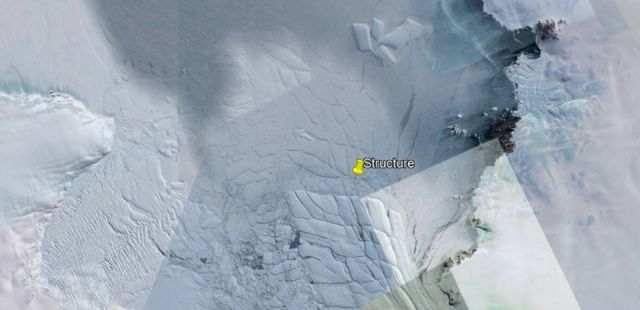 An enormous structure hidden under the ice sheet of Antarctica has become visible possible due to climate changes.