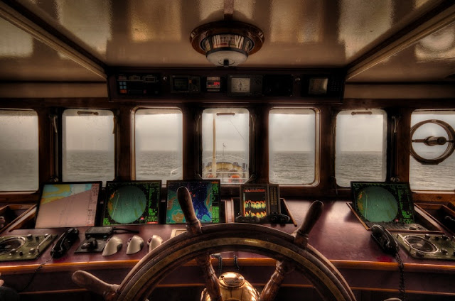 Passadiço de um navio