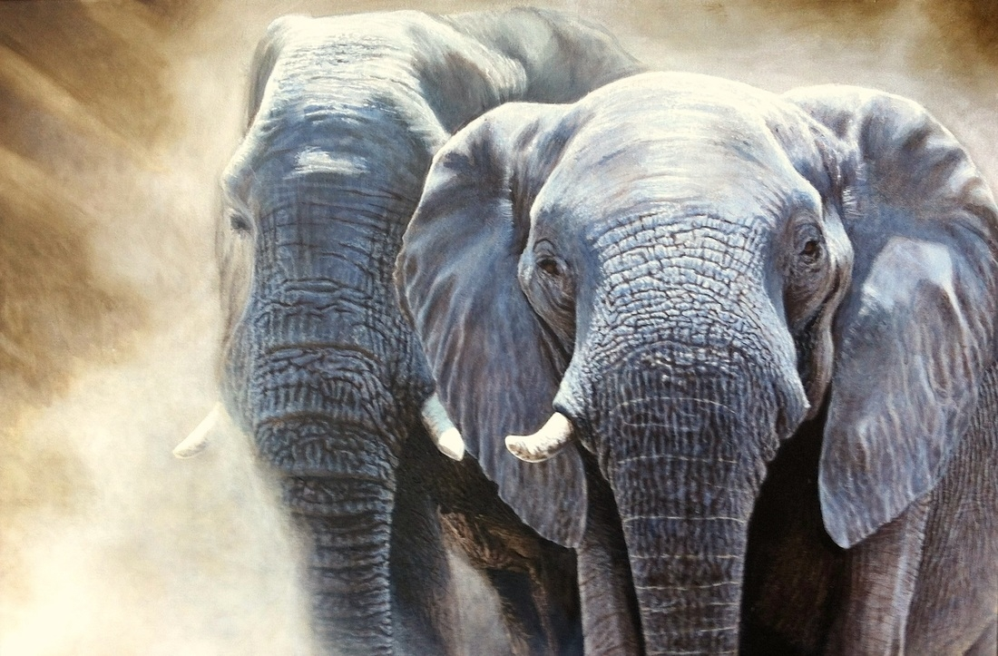 07-Elephants-Nick-Sider-Realistic-Animal-Paintings-more-than-a-Photo-Image-www-designstack-co