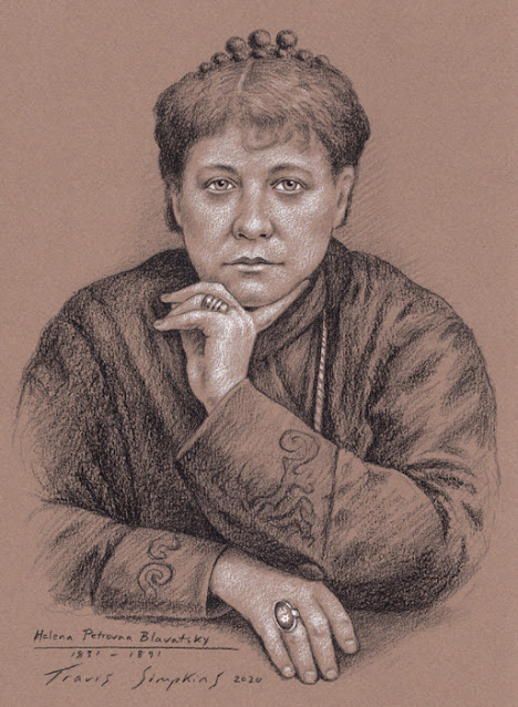 Helena Petrovna Blavatsky. Occultist and Philosopher. Theosophical Society. The Secret Doctrine. by Travis Simpkins
