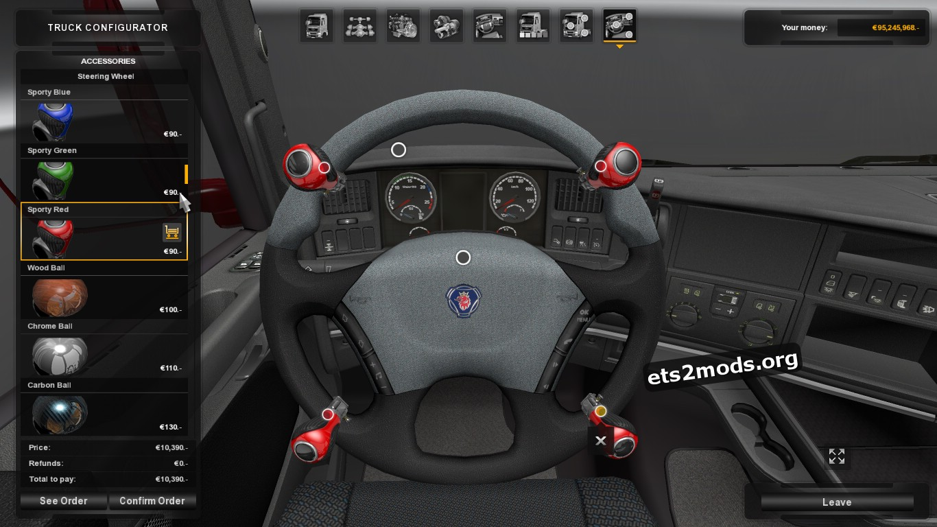 Steering Wheels Tuning for Scania R & Streamline