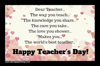 the inspirational message for teachers day