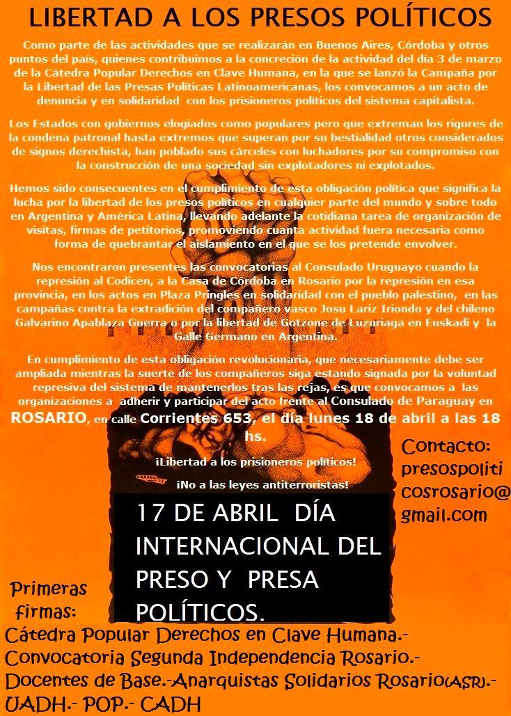 Libertad para el prisionero político Osmán Morote!