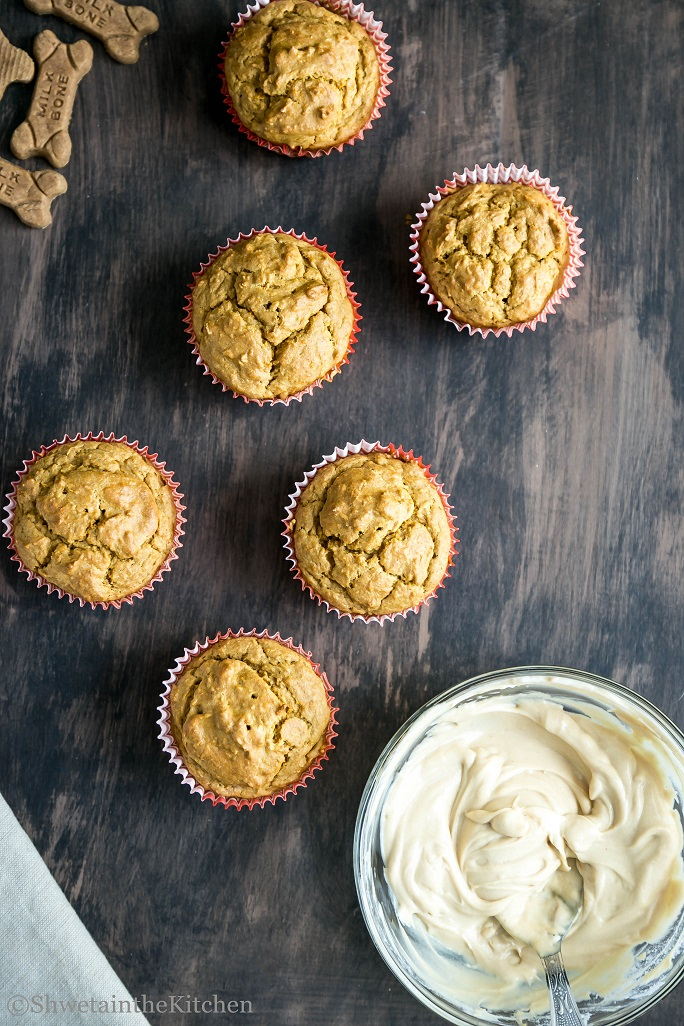 Carrot Peanut Butter Pupcakes Shweta In The Kitchen