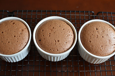 Individual Fallen Chocolate Cakes