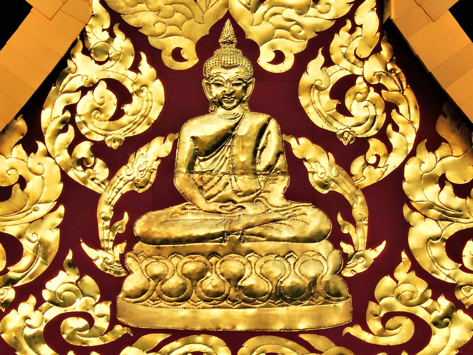 Pagode Laotienne, Roubaix - Toit (détail, Bouddha)