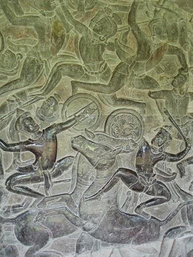 Scene from Mahabarata, Angkor Wat
