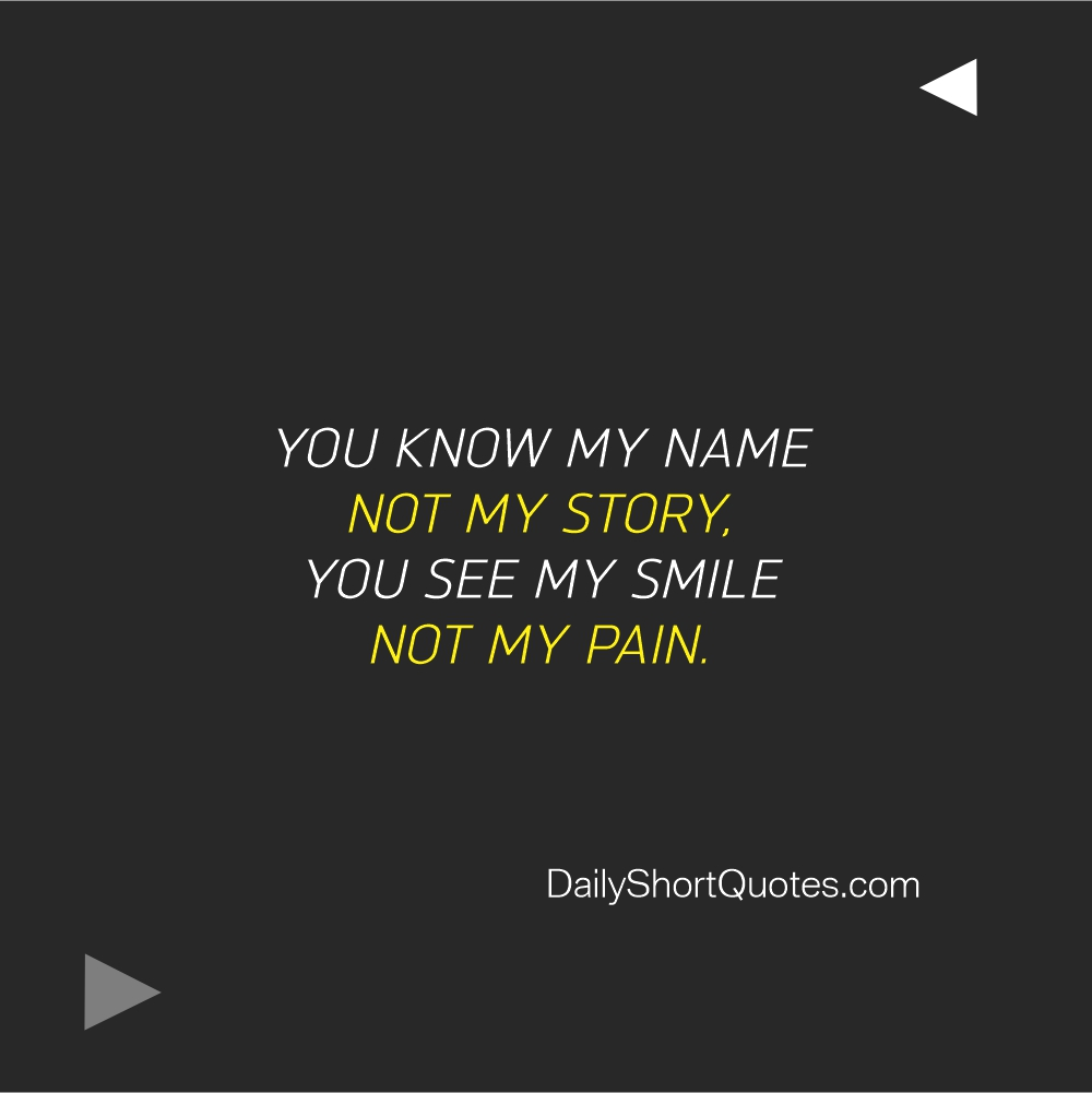 Attitude Quotes on Smile and Pain