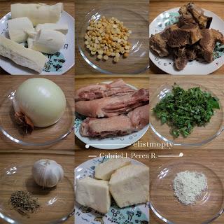 Sopa de carne y rabo de cerdo