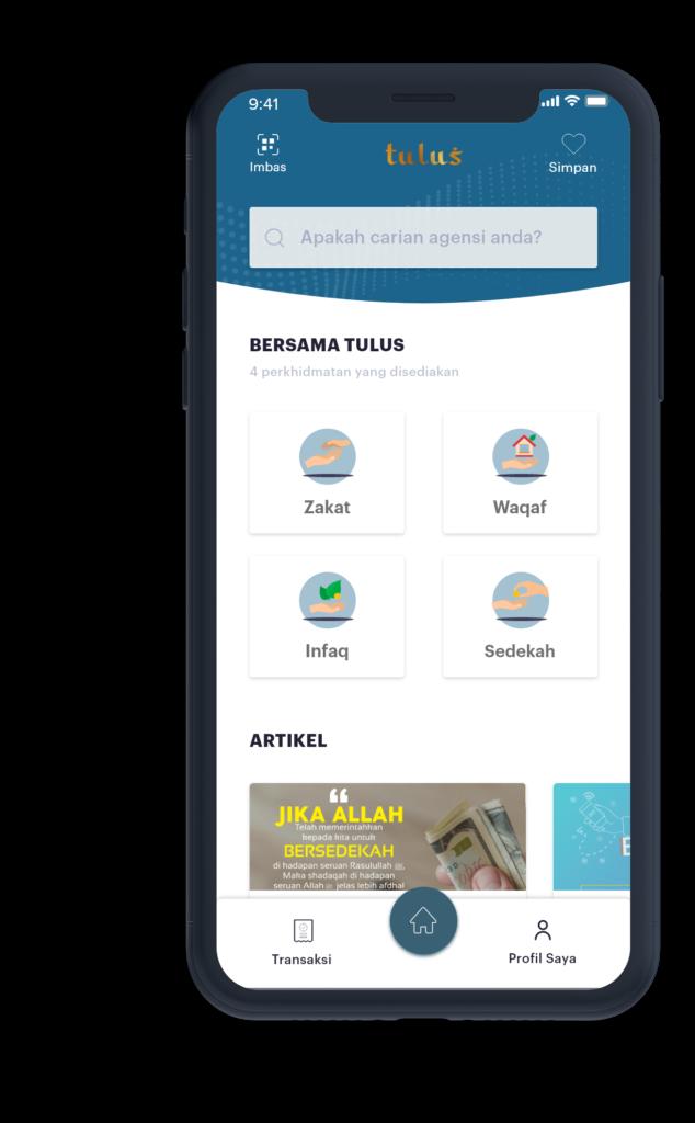 Nak Zakat, Wakaf, Infaq dan Sedekah Online? Guna Aplikasi Tulus