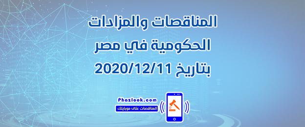 مناقصات ومزادات مصر في 2020/12/11