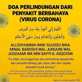 Doa Minta Dijauhkan & Eelak Wabak Berjangkit Corona Covid-19