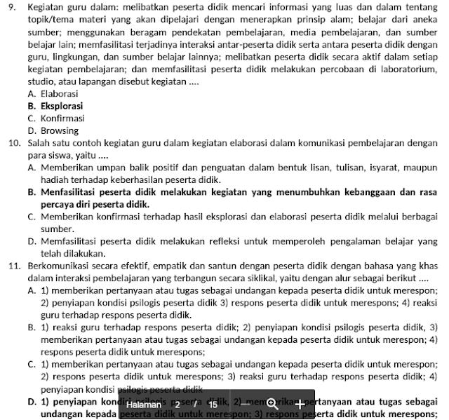 100 + Soal Try Out dan Kunci Jawaban  Ujian PPPK Guru  Tahun 2021