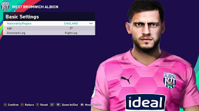 PES 2021 Faces Jonathan Bond by Rachmad ABs
