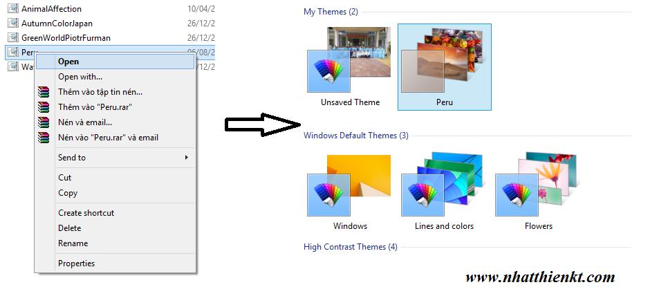 Lấy thêm nhiều chủ đề đẹp cho windows 7/8/8.1