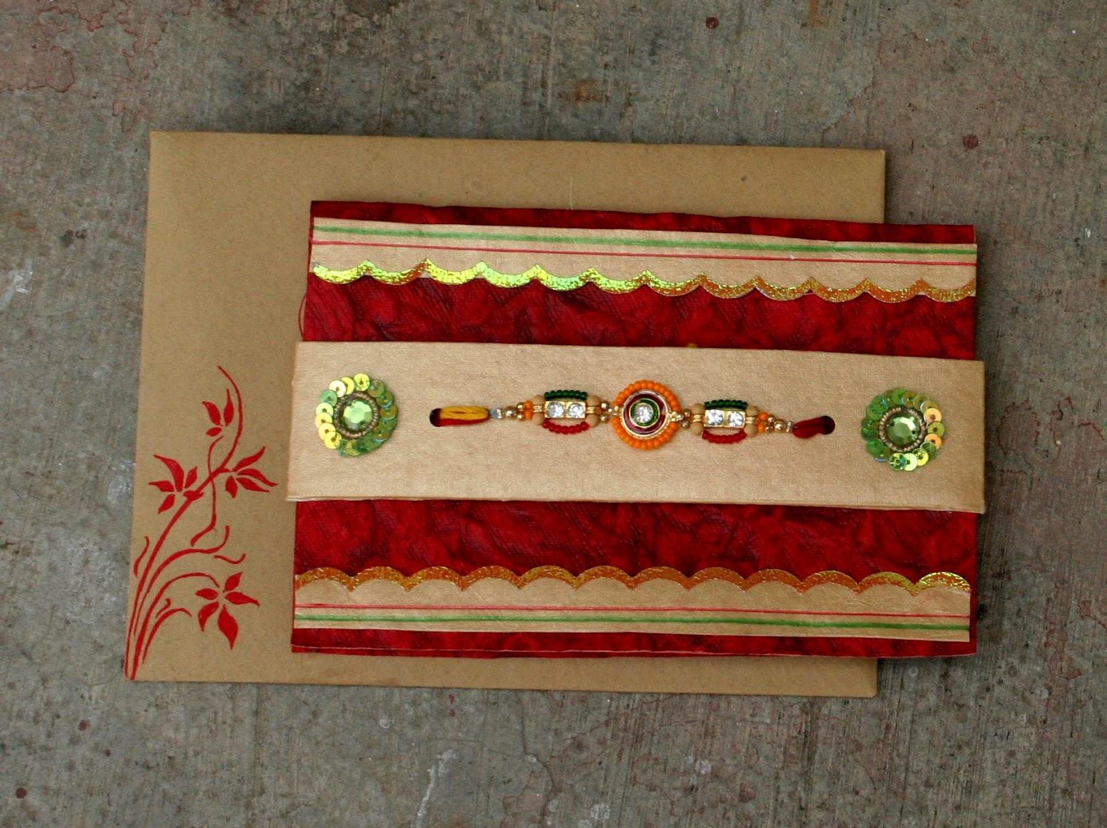 my handmade cards rakhi card and envelopes