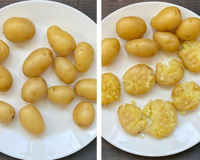 Air Fried Masala Smashed Potatoes steps 3