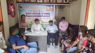 शैलेश पांडे ने कामगार नेताओं के साथ की बैठक | #NayaSaberaNetwork