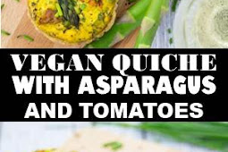 #VEGAN #QUICHE #WITH #ASPARAGUS  #TOMATOES