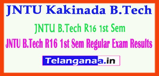 JNTU Kakinada B.Tech R16 1st Sem Regular 2018 Exam Results