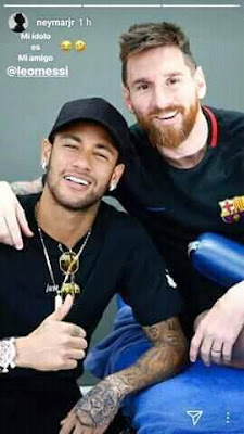 "According to #France #football, #Messi said to #Neymar:"" we can only win the #CHAMPIONS #LEAGUE WE 2 #together."" ❤  "" I want you to come back. I'll be gone in two years and you'll take care of me."" 💔"
