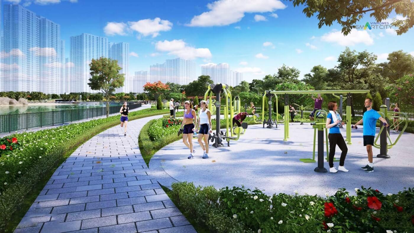 Công viên thể thao khu đô thị Vinhomes Smart City