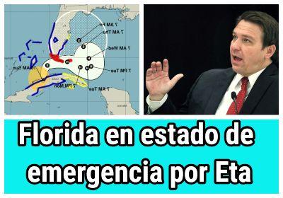 Gobernador de Florida declara estado de emergencia por Eta