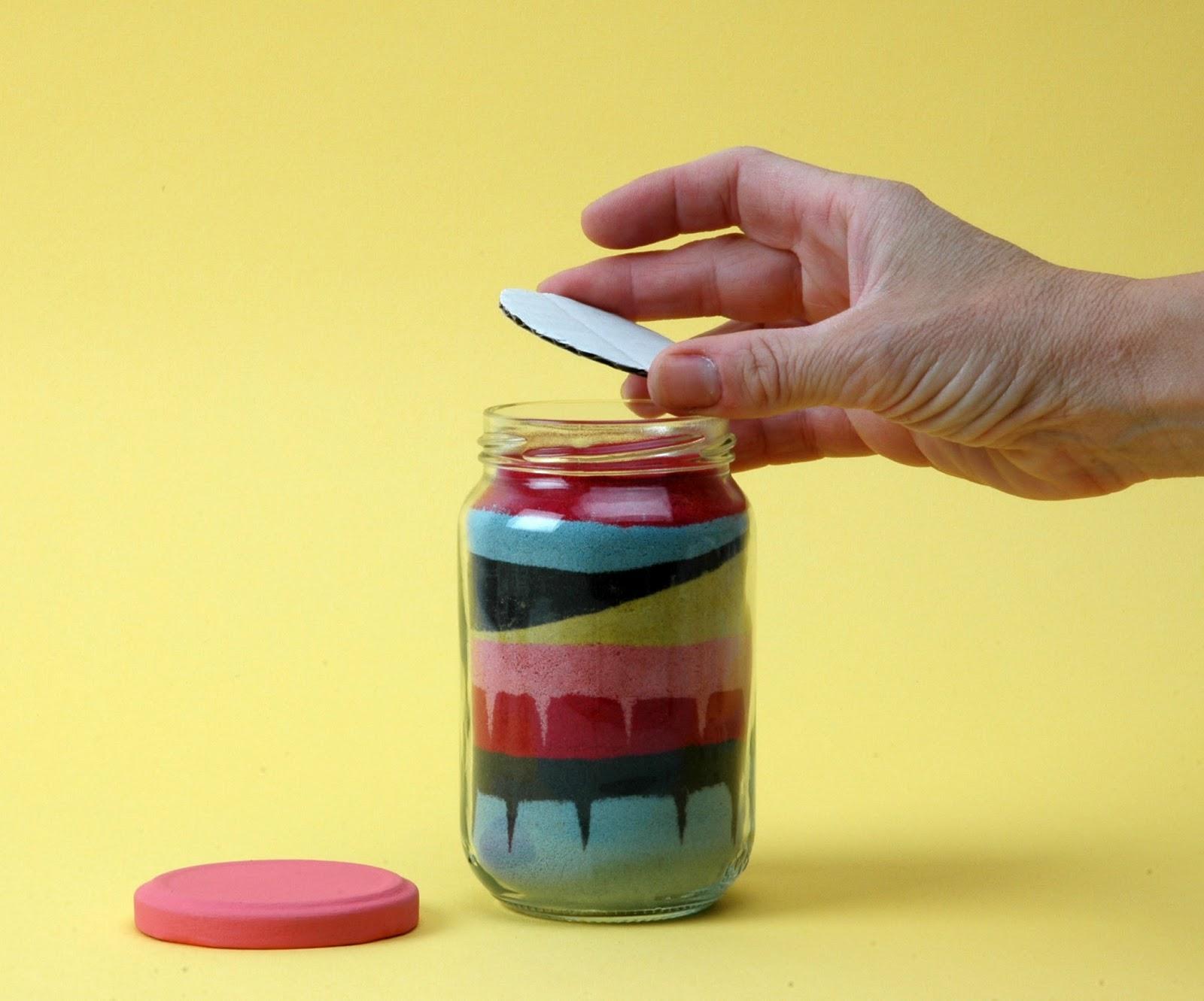 El taller de pepa decorando con arena de colores - Como hacer colores ...
