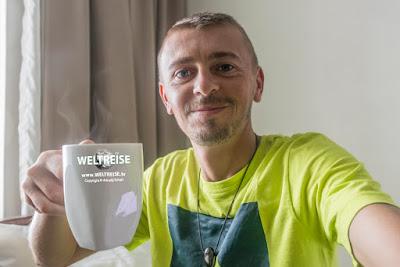 Kein Wasser aber dafür Kaffee! Arkadij aus Bremerhaven in Malaysia
