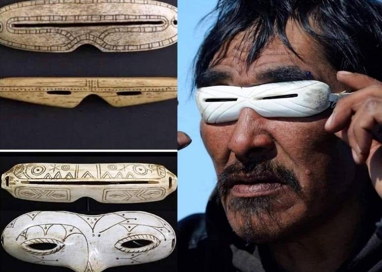 Primeras Gafas de sol de la historia hechas hace 12 mil años por el pueblo originario INUIT
