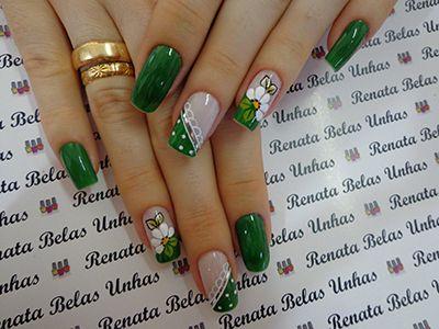unhas decoradas verdes 9