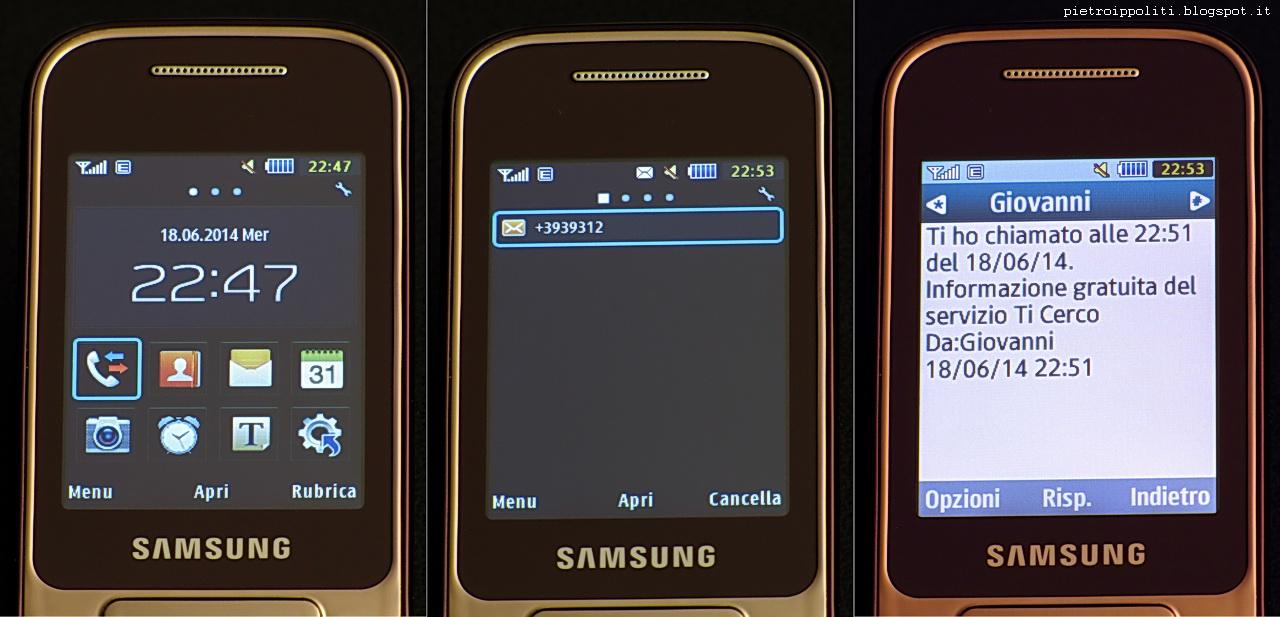 Samsung GT-C3590, mancata indicazione del mittente