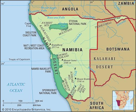 Eastside Geography: Namib & Kalahari Deserts on