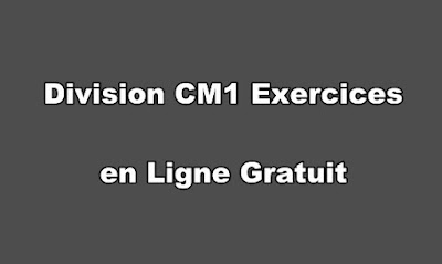 Division CM1 Exercices en Ligne Gratuit PDF