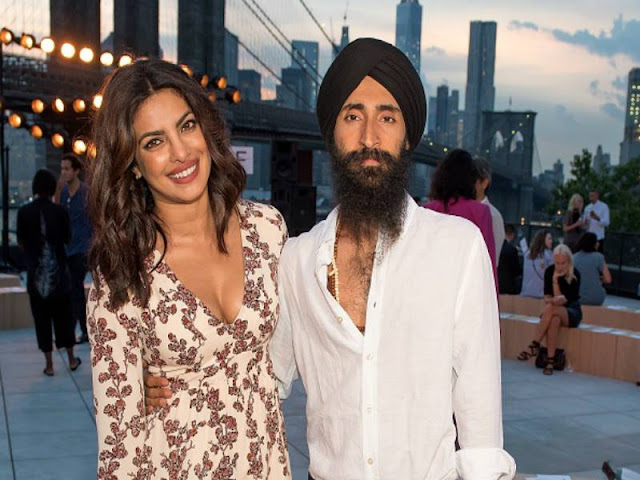 Priyanka Chopra with New york model Waris Ahluwalia