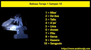 Bahasa Toraja 1 Sampai 10