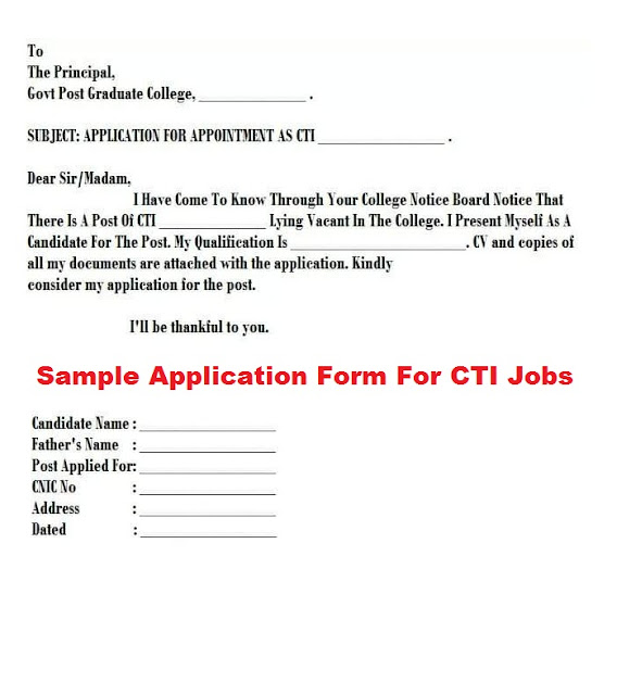 CTIs Jobs Application Form