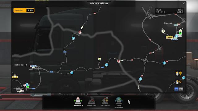 ets 2 google maps navigation night version for promods v1.9 screenshots 5
