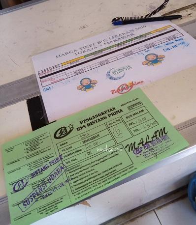 Tiket bus Toraja - Makassar