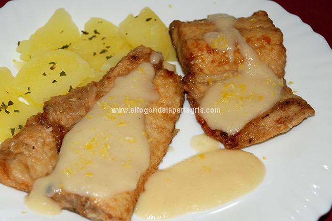 Trucha frita al limón