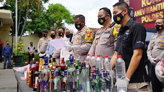 Anev Kamtibmas 2020, Polresta Mojokerto Ungkap 191 Kasus Kejahatan