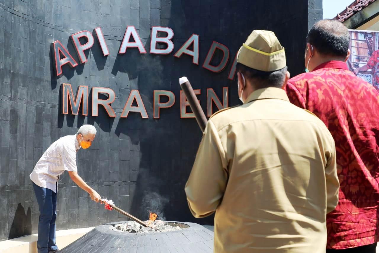 Alhamdulillah! Padam Sejak September 2020, Api Abadi Mrapen Nyala Kembali