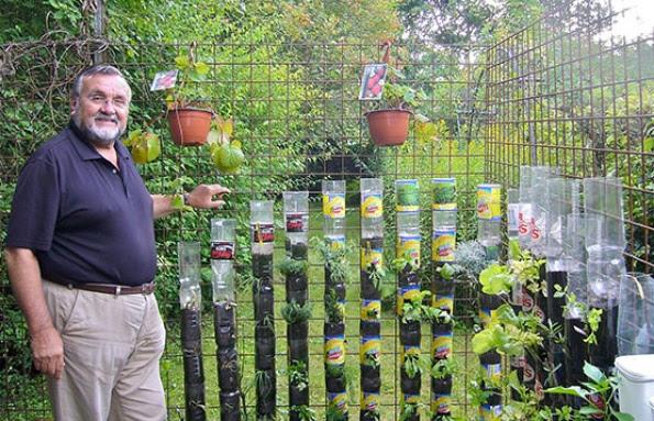 Jardines verticales caseros y reciclados - Huerto vertical casero ...