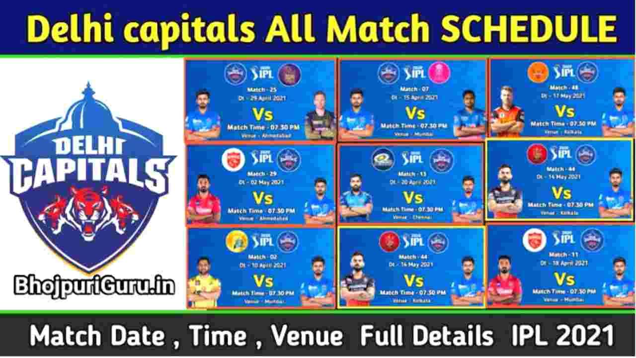 IPL 2021: Delhi Capitals, Squad, Schedule, Updated Full Time And Venue DC