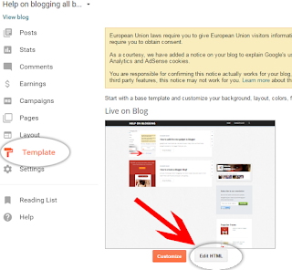 how to show Gadget below the first post only blogger tricks