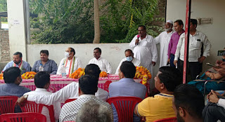धरमपुरी में ब्लॉक कांग्रेस की अध्यक्षता में जनजागरण आदिवासी रैली कि बैठक सम्पन्न