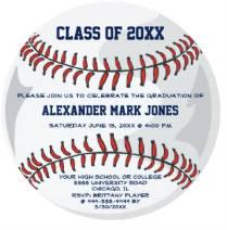 Baseball Ball Sport Graduation Invitation