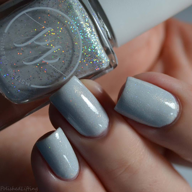 white holographic nail polish
