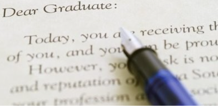 A letter to the graduates
