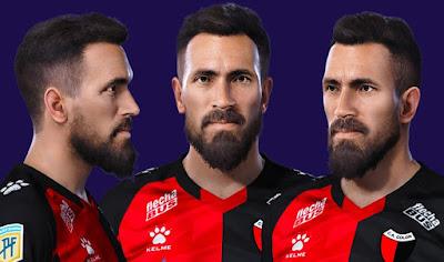 PES 2021 Faces Eduardo Domínguez by Grdumbanda